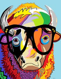 """Hipster Bison """"Buffalo"""" by eloiseart"""
