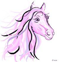Pretty Pink Pony by eloiseart