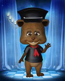 Teddy in Leder von Conny Dambach