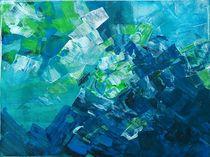 Abstrakt blau by philomena