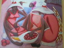Women in outside market by Roger Dartiguenave