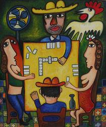 A game of domino between friends von Roger Dartiguenave