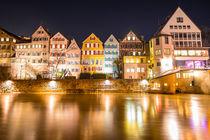 Tübingen bei Nacht an der Neckarbrücke von mindscapephotos