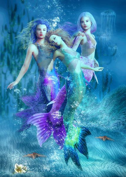 Mermaid-trio-klein