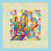 ASL I Love You for a Baby Boy Nursery von eloiseart