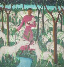 Pasteur et ses moutons  von Roger Dartiguenave