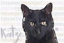 Schwarze Katze - Sanftmütige Kämpferin by Astrid Ryzek