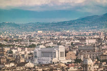 Rome Aerial View at Saint Peter Basilica Viewpoint by Daniel Ferreira Leites Ciccarino