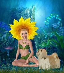 Sonnenblumengruß von Conny Dambach