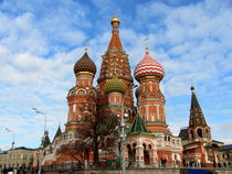 St. Basil's Cathedral on Red Square in Moscow by ambasador