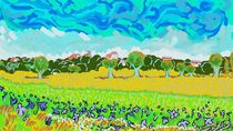 Blumen im Feld by Alexander Mienert