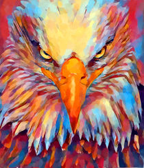 Bald Eagle Watercolor von Chris Butler