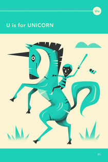 U IS FOR UNICORN by Jazzberry  Blue