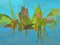 Abstract Swamp Reeds by Rosalie Scanlon