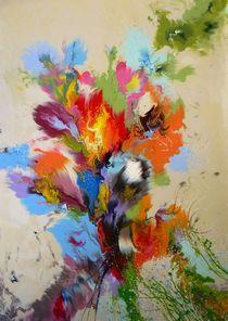 Abstract Bouquet Of Flowers von Irini Karpikioti