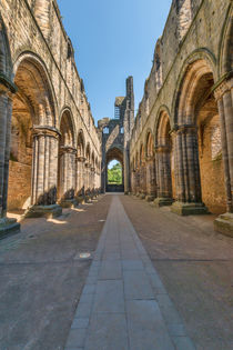 The Church at Kirkstall Abbey by Colin Metcalf