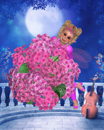 Pummelfee mit Hortensienstrauss von Conny Dambach