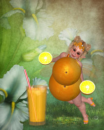 Orangen Pummelfee von Conny Dambach