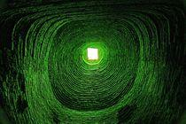 Blick ins Universum - grün by Peter Holle