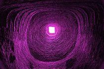 Blick ins Universum - lila von Peter Holle