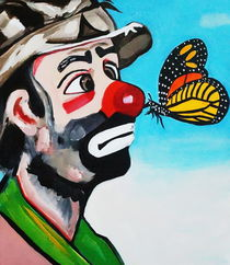 CLOWN WITH BUTTERFLY KISS by Nora Shepley