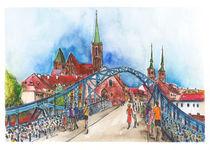 Breslau, Dombrücke von Hartmut Buse