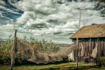 Trocknende Fischreusen auf der Insel Reichenau - Bodensee by Christine Horn