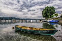 Ruderboot im Hafen von Hemmenhofen - Halbinsel Höri by Christine Horn