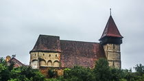 The fortified church from Brateiu  by Enache Armand Iustinian