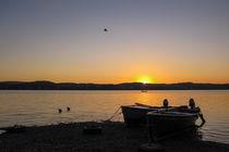 Fischerboote bei Sonnenaufgang auf der Insel Reichenau - Bodensee von Christine Horn