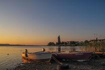 Fischerboote im Morgenlicht auf der Insel Reichenau - Bodensee by Christine Horn