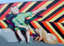 Boy with dog von federico cortese