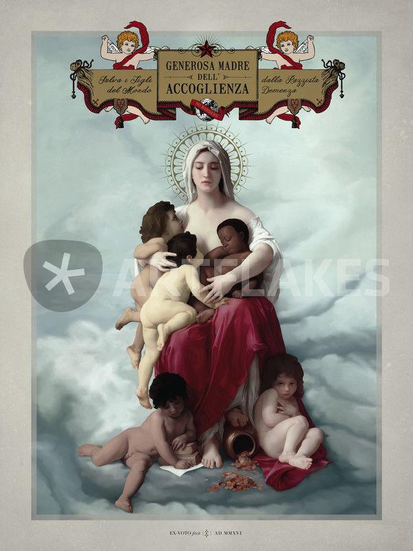 generosa madre dell accoglienza digital art art prints and posters
