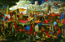 Flight to Egypt  by Mati Klarwein
