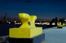 Schiffs-Klampen im Hamburger Hafen von Thomas Sonntag
