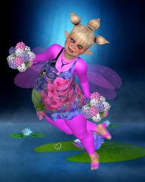 Die Pummelfee bringt Blumen von Conny Dambach