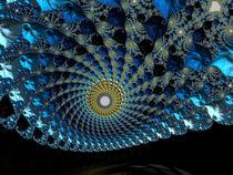 Blue Spiral Sunrise von Elisabeth  Lucas