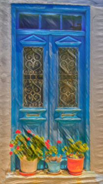 Blue Window by David Frigerio