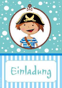 Einladung Pirat von Gosia Kollek