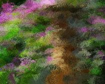 Charcoal Rhododendrons by abstractart