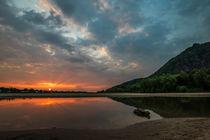 Sonnenuntergang am Drachenfels von Frank Landsberg