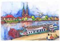 Breslau Blick zur Dominsel von Hartmut Buse