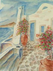 Haus am Steilufer von Santorin von Helmut Glaßl