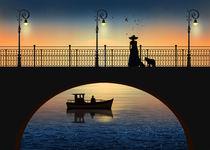 Romantische Begegnung an der Brücke von Monika Juengling