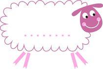 design sheep, pink von Jana Guothova