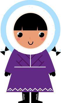 Cutie eskimo kid pink by Jana Guothova