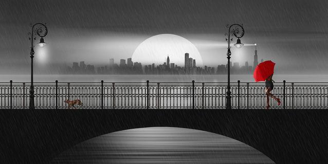 Bruecke-nacht-regen
