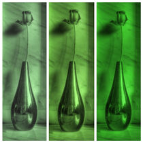 Rose Triptych in Green by Colin Metcalf