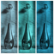 Rose Triptych in Blue by Colin Metcalf