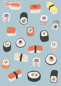 Sushi Roll Maki Nigiri Japanese Food Art von Nic Squirrell